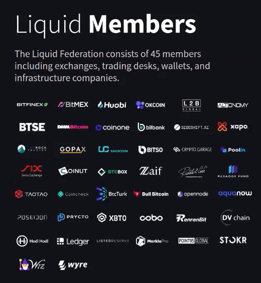 Liste des fonctionnaires de Liquid développé par Blockstream