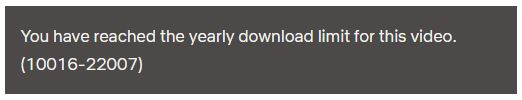 Yearly download limit Netflix