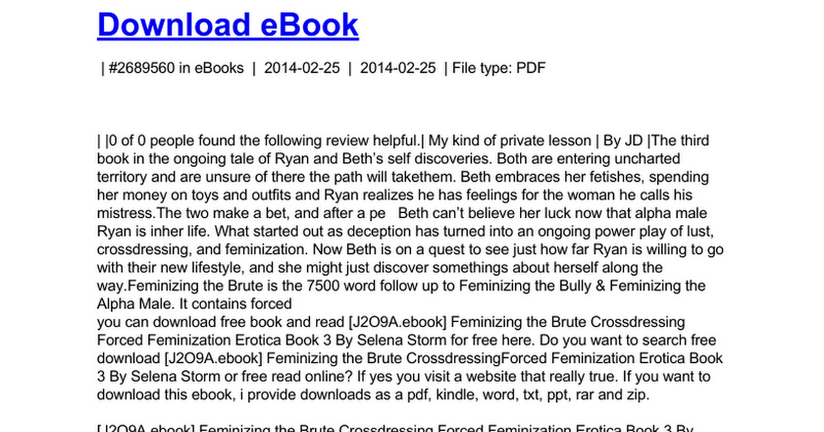 Feminizing The Brute Crossdressing Forced Feminization Erotica Book 3 Doc Google Docs