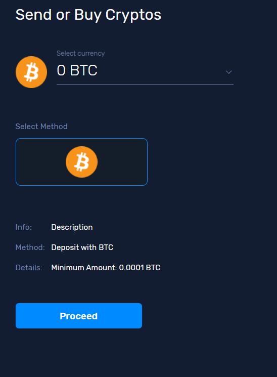 send or buy crypto