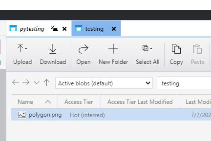 files stored as an Azure blob