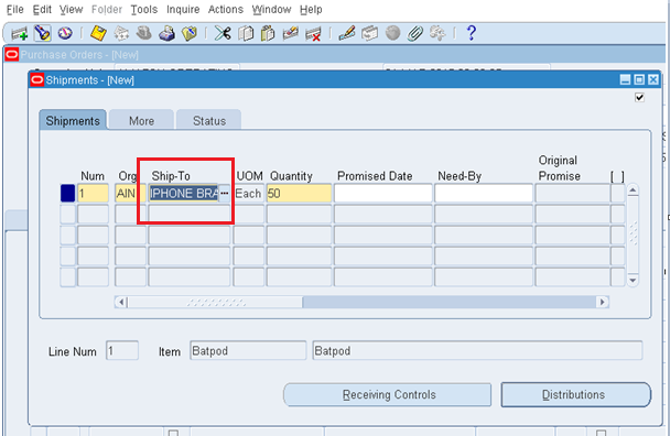 how to create a contract purchase agreement in oracle