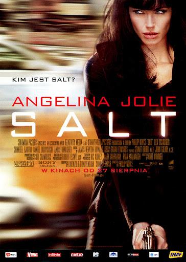 Przód ulotki filmu 'Salt'