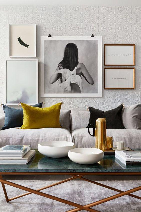 LeAnne Bunnell Calgary interior design fall trends art woman black hair white dove
