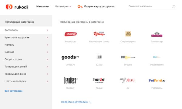 Каталог категорий на сайте Rukodi.ru