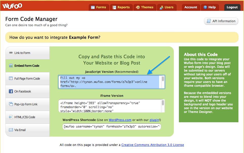 how do i add a wufoo form to my landing page? \u2013 documentationadding a wufoo form to your landing page