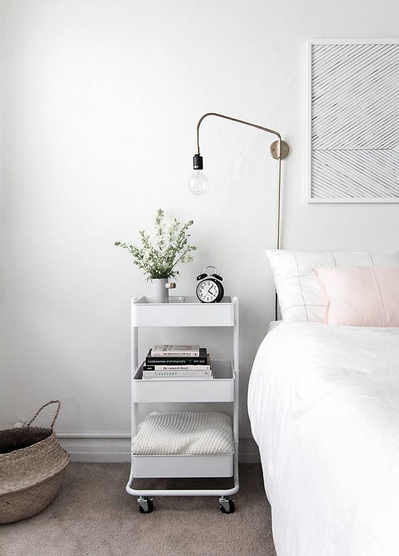 Bedside Storage Furniture From A Cart
