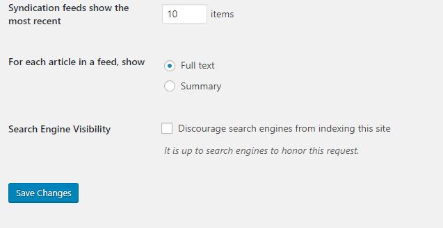 Screenshot of WordPress backend SEO