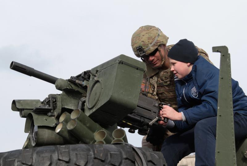 Operation Dragoon Ride stops in Latvia, March 22, 2015.