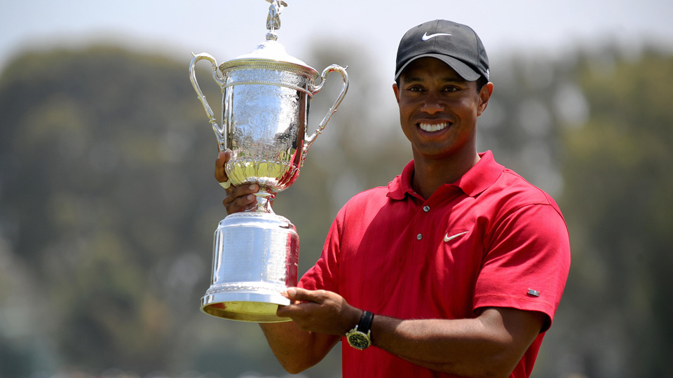 55d5d3c86ae7b4 Tiger Woods winning the 2008 US Open at Torrey Pines – notice the shirt   Nike s brought back a similar emblem on the sleeve this year. Coincidence
