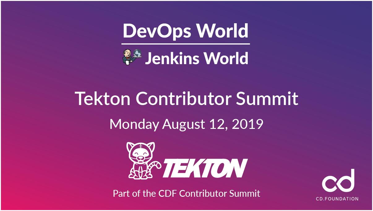 Tekton Contributor Summit at DevOpsWorld Jenkins world