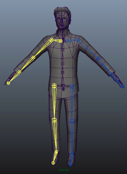 Skinning a Character in Maya using Component Editor