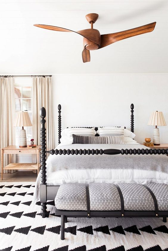 Bold Wooden Ceiling Fan Ideas for Your Primary Bedroom