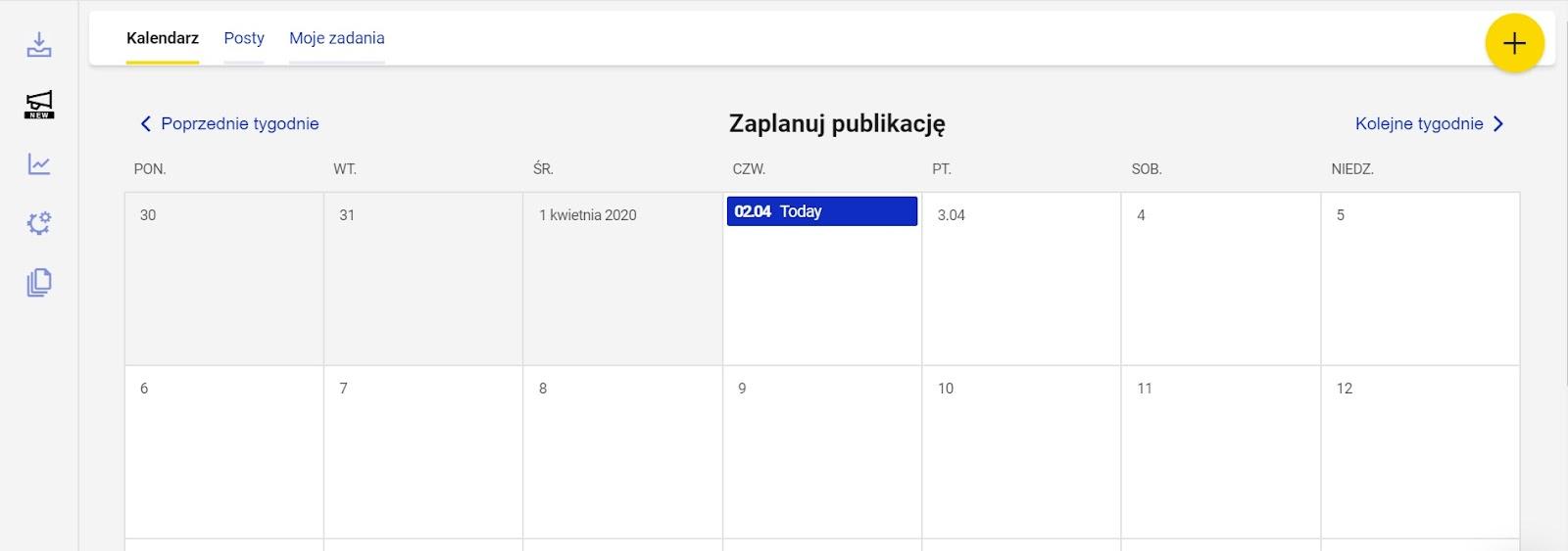 Kalendarz publikacji Instagram Planer NapoleonCat