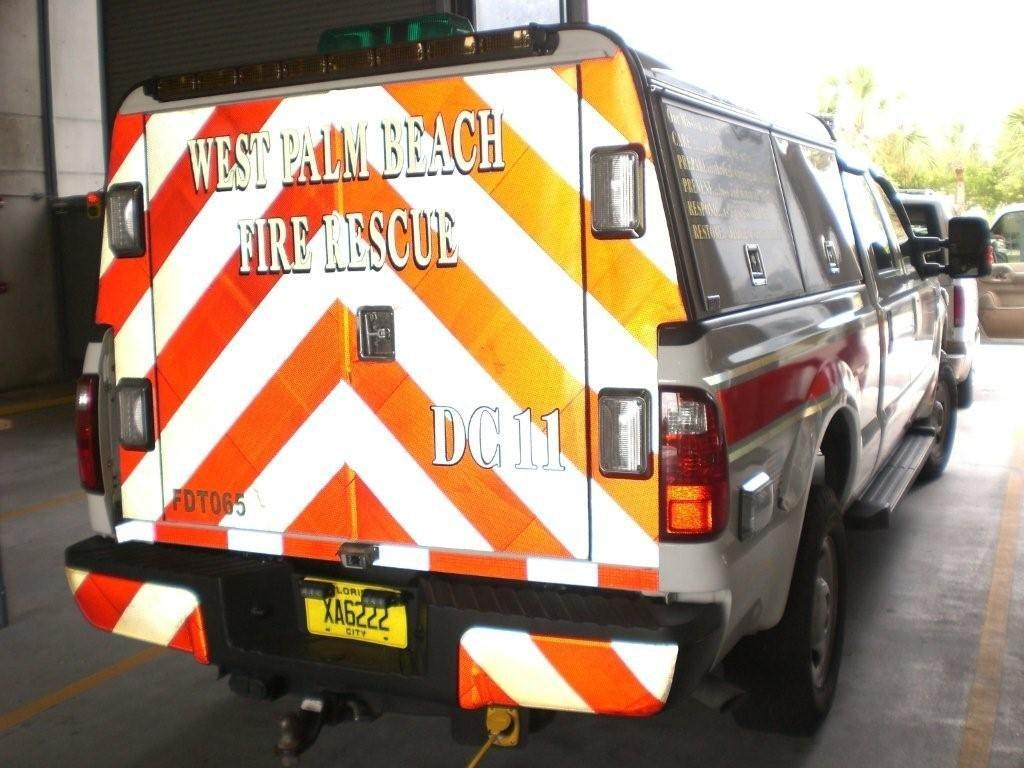 backview picture of a west palm beach fire rescue