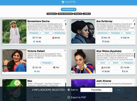 hypr influencer marketing platforms