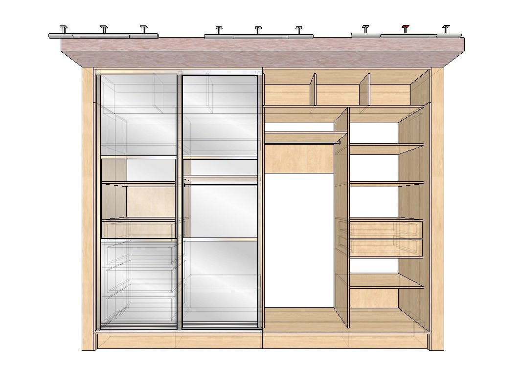 Фотоподборка интересных идей шкафов (в том числе для одежды) из различных материалов для самостоятельного изготовления