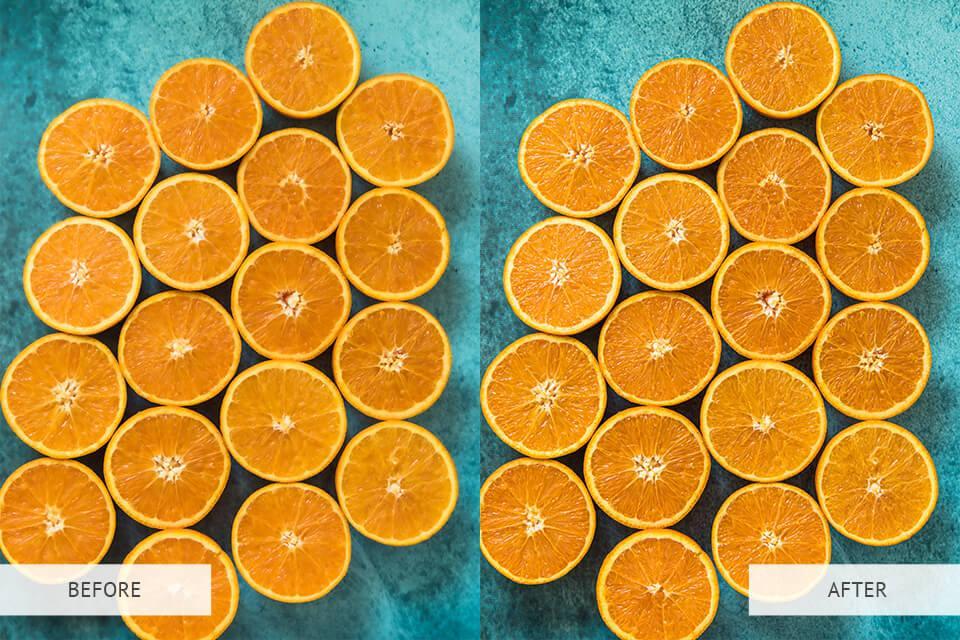 edited image of oranges