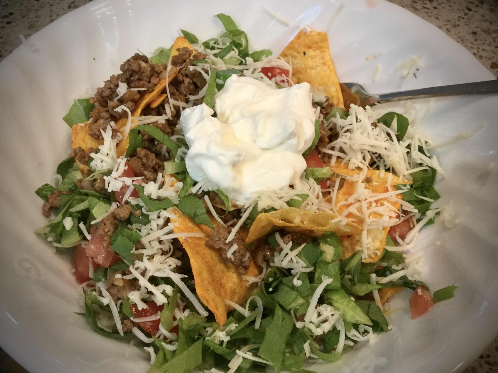 Taco Salad with Quest Protein Chips