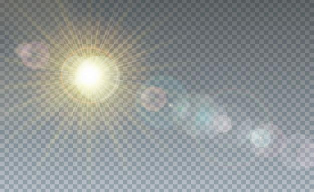 Cloud and sunlight transparent background Free Vector