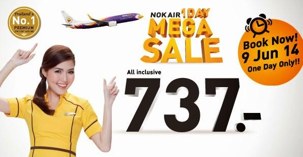 NokAir tung vé giá rẻ nội địa chỉ trong hôm nay