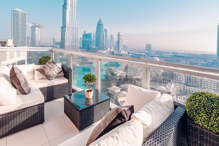 Royal Penthouse   5BRs   Full Burj Khalifa view - Apartments for Rent in  Dubai, United Arab Emirates