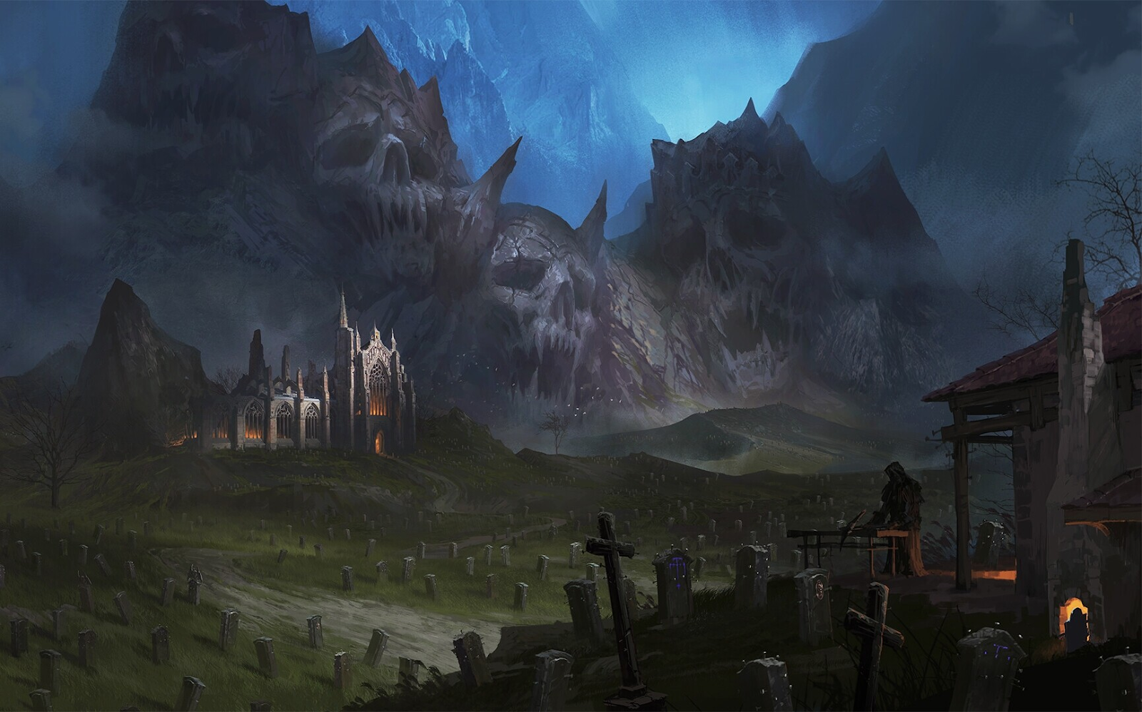Fantasy Wallpaper - Grave Keeper by Avant Choi