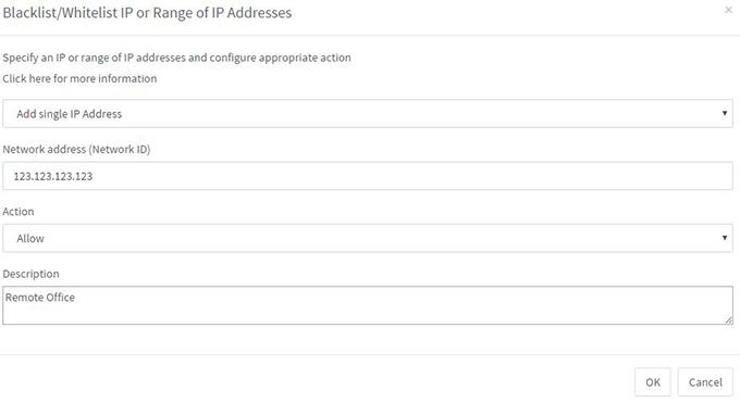 Blacklist_Whitelist IPs or range