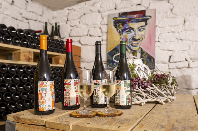 etykiety na butelki wina