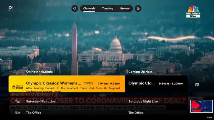 Peacock TV Dashboard - Best Free IPTV Apps for Live TV Streaming