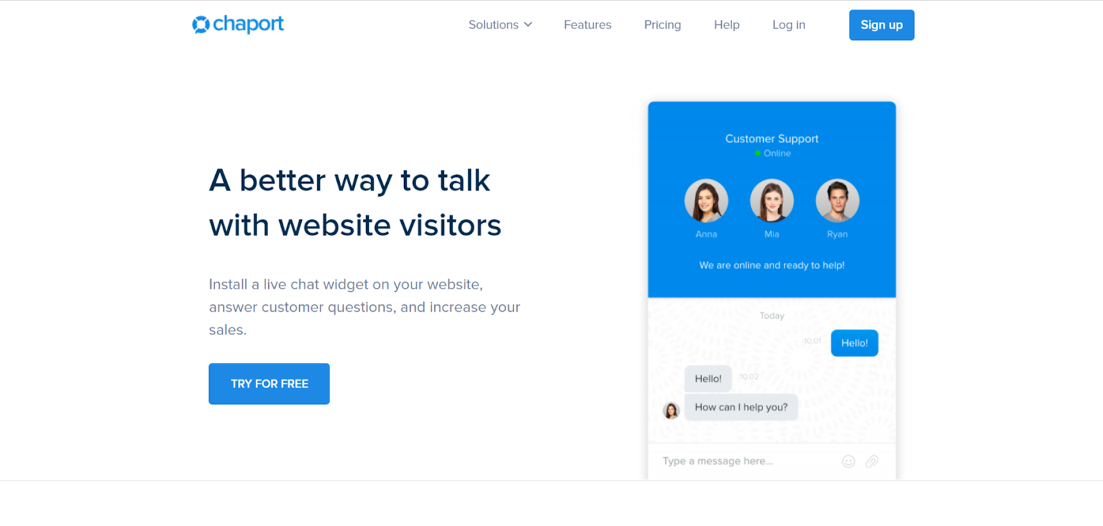 Chaport live chat software