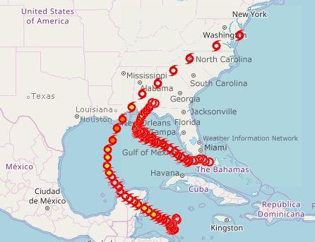 hurricane paths 2020