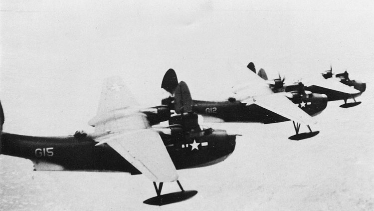 Baci's plane, G15, in formation; they always flew in groups of three for safety