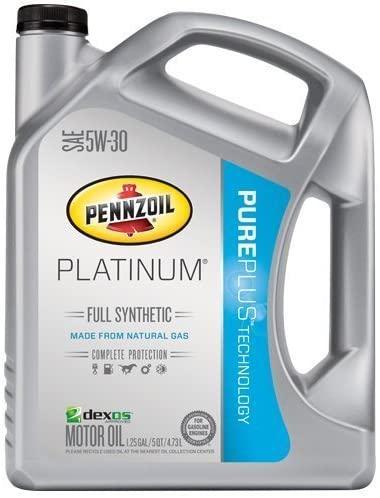 Pennzoil Platinum Full Synthetic Motor Oil 5W-30 – 5 Quart