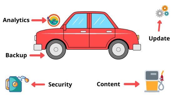 comparison between a car and a website