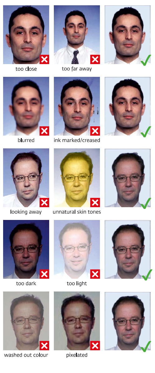 Russian visa photo requirements samples