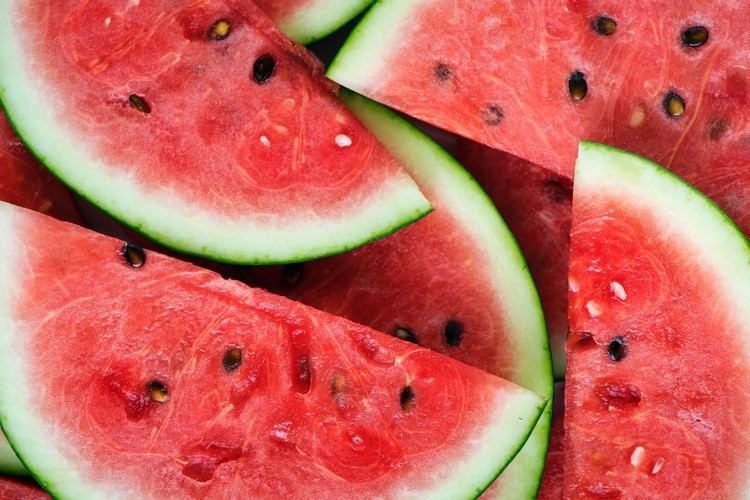 watermelon slices in menopause smoothie
