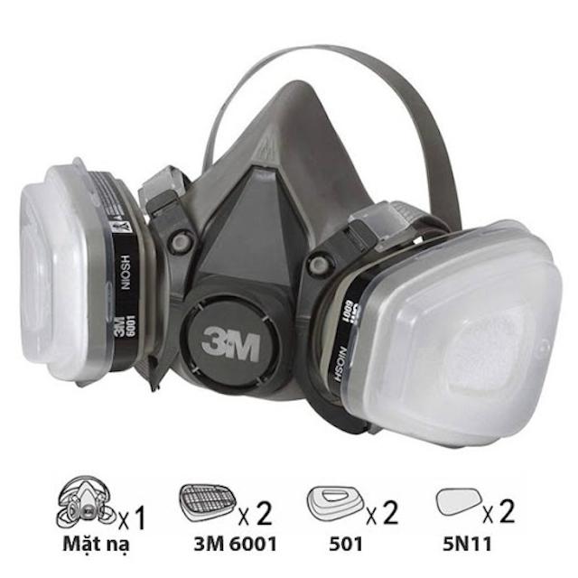 Mặt nạ phòng độc 3m giúp người lao động bảo vệ tốt hệ hô hấp trong môi trường không khí bị ô nhiễm