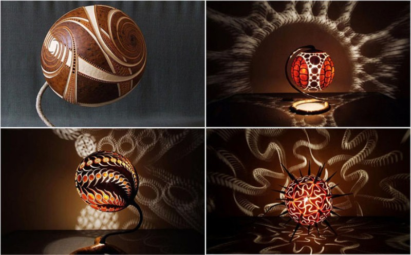 Светильник из тыквы от опытного мастера – художника из Польши