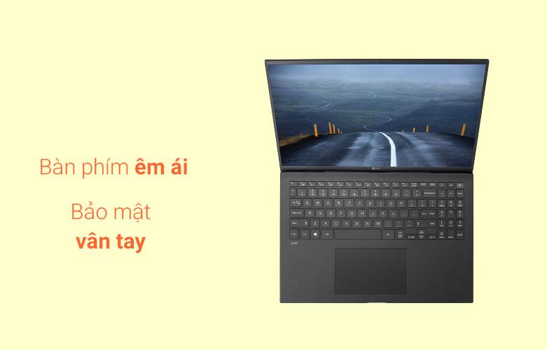 Laptop LG Gram 2021 16Z90P-G.AH75A5 (i7-1165G7) (Đen)   Bàn phím êm ái