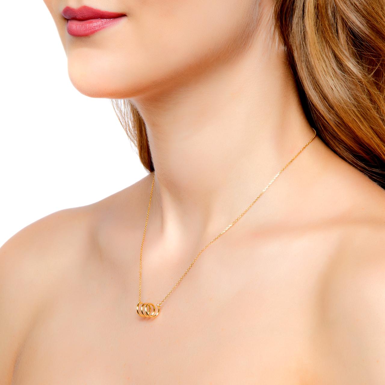 colar de ouro colar espiral