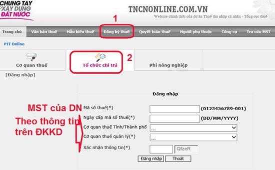 Thay đổi thông tin đăng ký mã số thuế