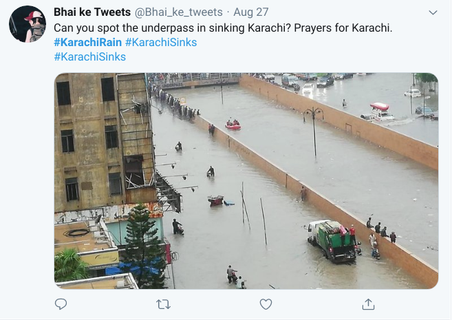 Tweet of a person faced problem in Monsoon season