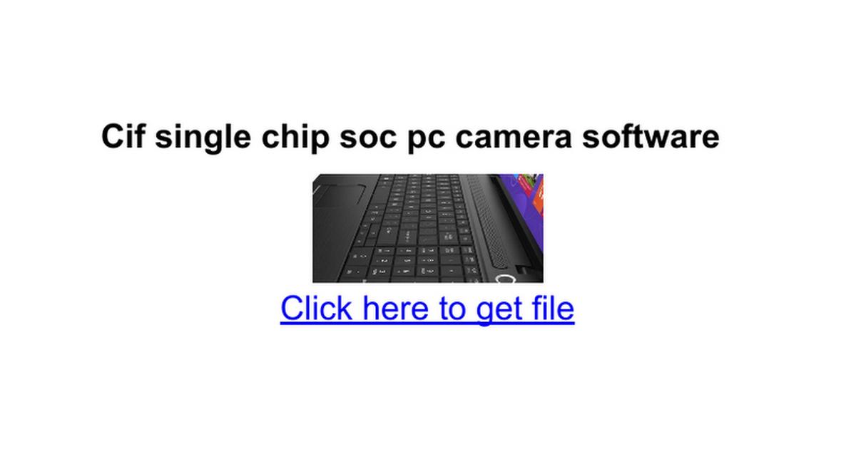 Zenith Cif Single Chip Web Camera Driver For Mac