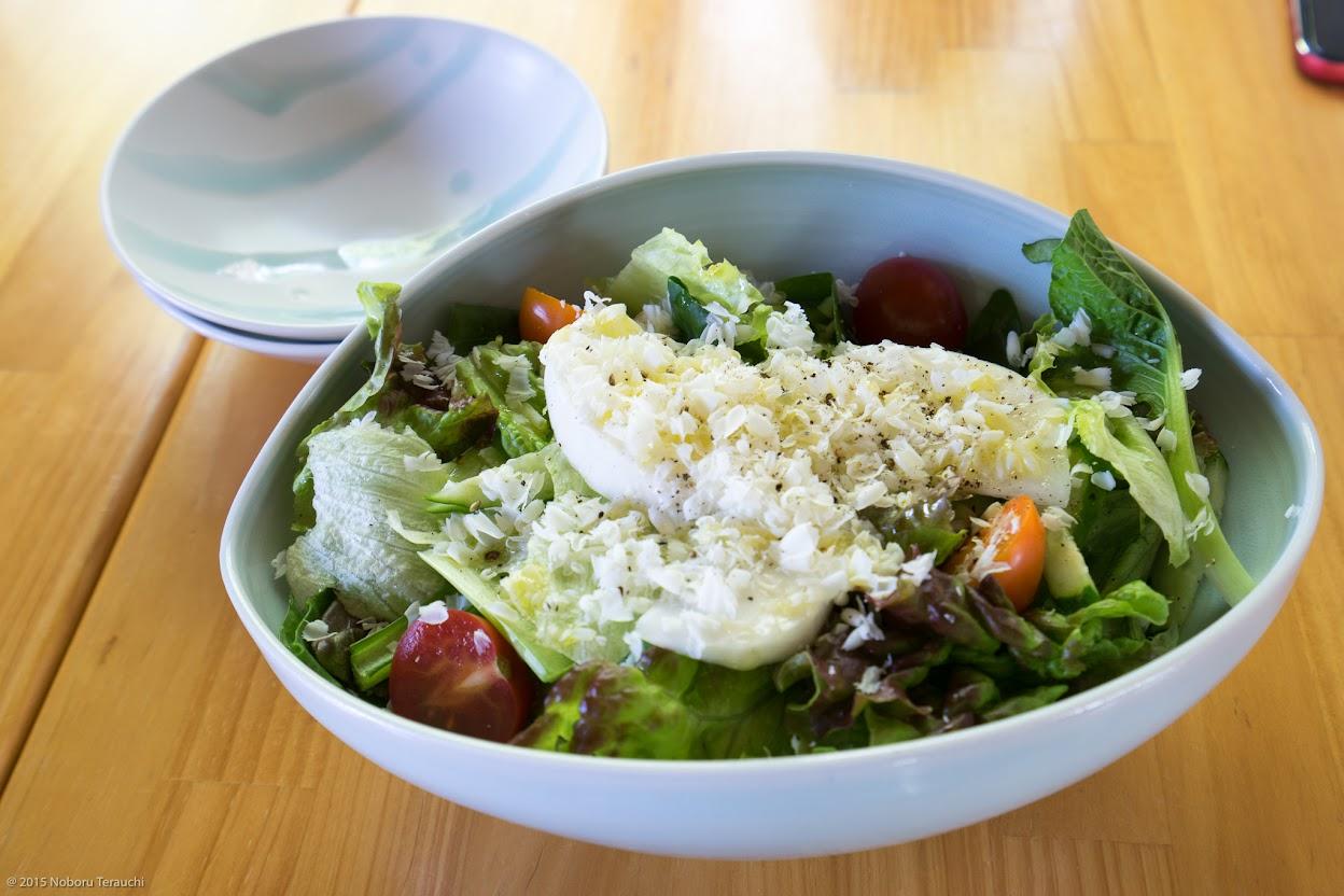 リコッタ・サラータのグリーンサラダ