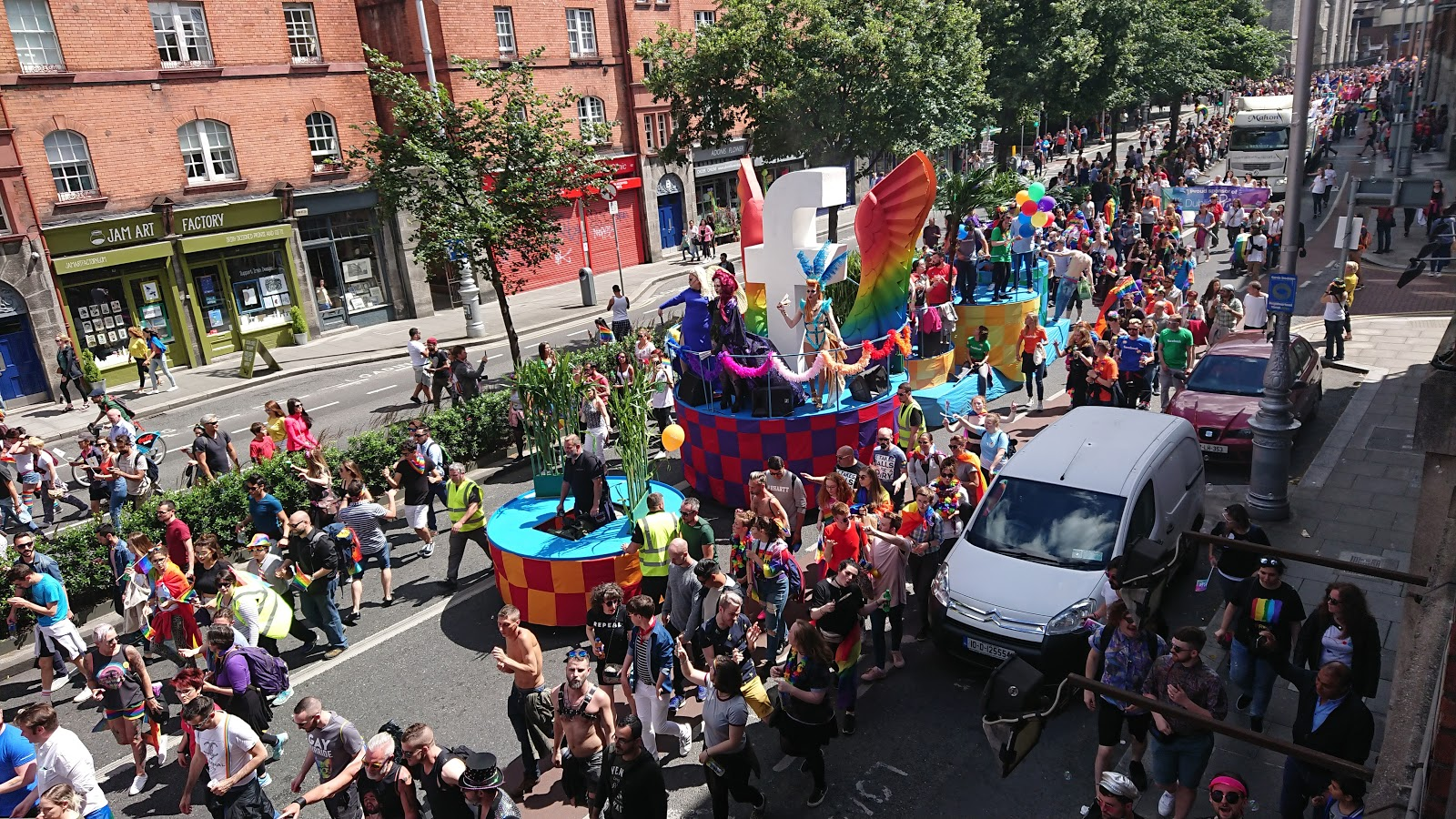 Facebook in Dublin Pride 2017