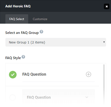 Adding Heroic FAQ to content