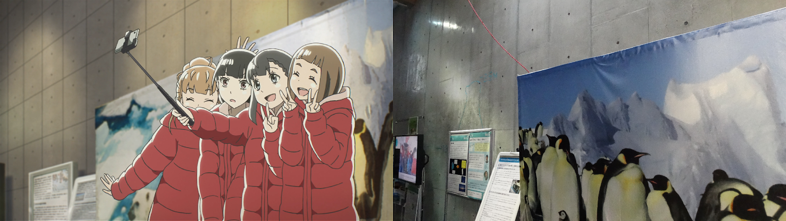 a place further than the universe, anime, real life, pilgrimage