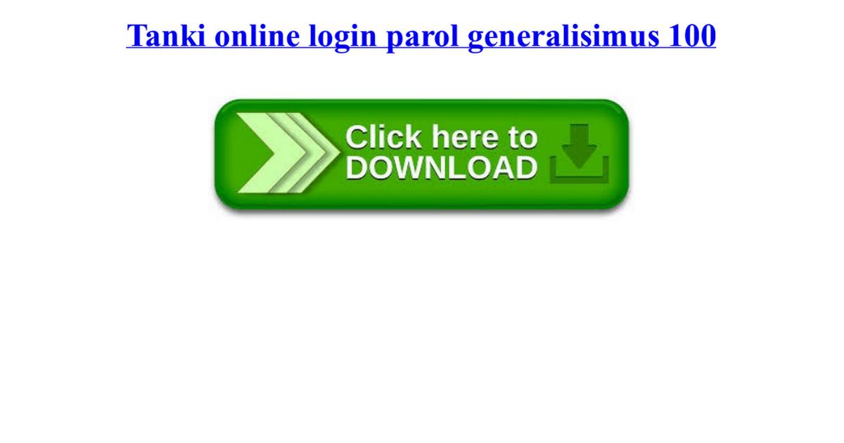 tanki online login parol 100