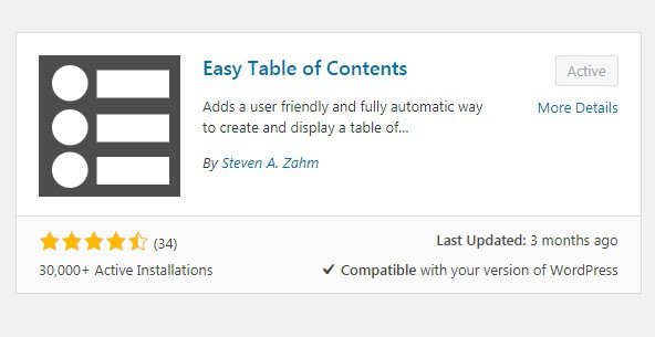 The best content table for WordPress- easy table of content